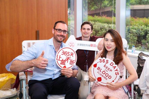 无偿献血活动在上海嘉会国际医院举行,吸引外籍人士踊跃参加 | 美通社