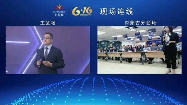 Connecting with Infinitus Inner Mongolia through a video hookup at the site to co-promote standard operation