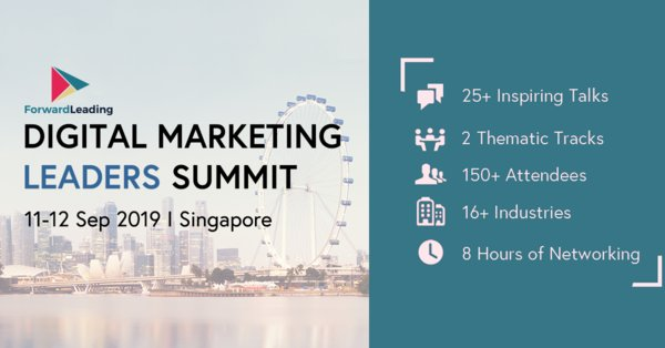 Speaker Line-up Announced for Digital Marketing Leaders Summit Singapore 2019