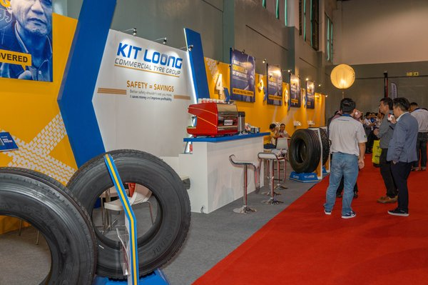 Kit Loong Commercial Tyre Group launches 'Safety = Savings' at MCVE 2019. Safety is a key theme of the event and of the industry.