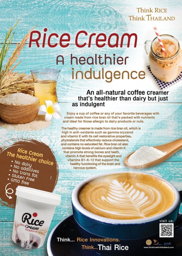Rice Cream -- A Healthier Indulgence from Thai Rice
