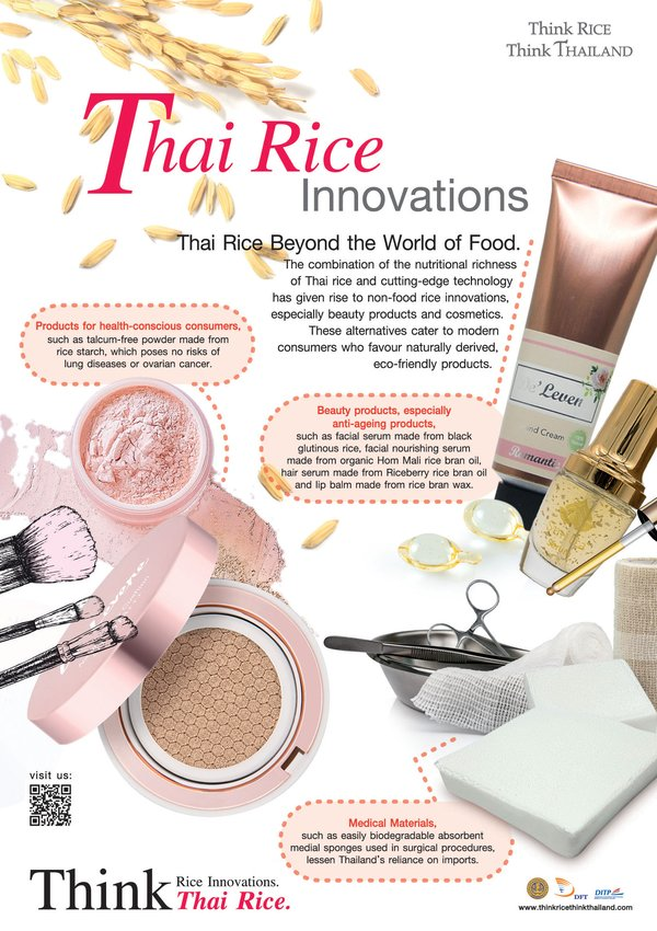 Thai Rice Enters to the World of Healthcare and Beauty