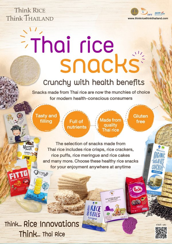 Thai Rice Snacks Offers Health Benefits