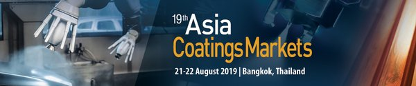 Top Paints & Coatings Manufacturers, Raw Material Suppliers, End Users to attend 19th Asia Coatings Markets in Bangkok