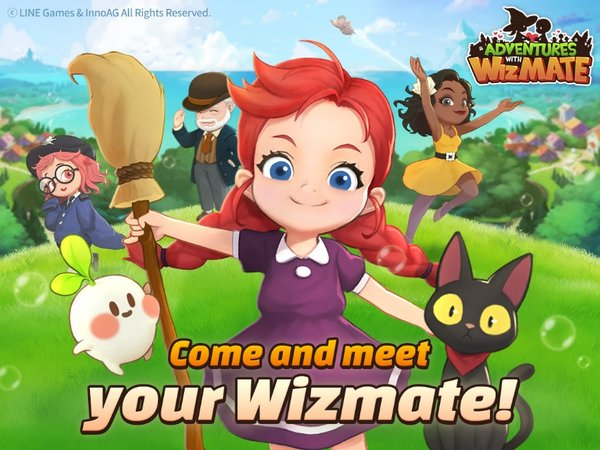 Peluncuran awal LINE GAMES Mobile Puzzle 'Adventures with WizMate'