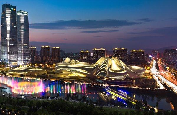 江森自控助力打造�L沙梅溪湖���H文化��g中心