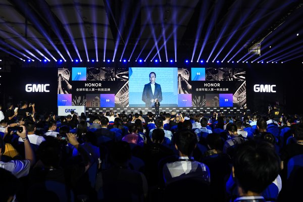 Mr. George Zhao delivering a keynote speech at GMIC 2019