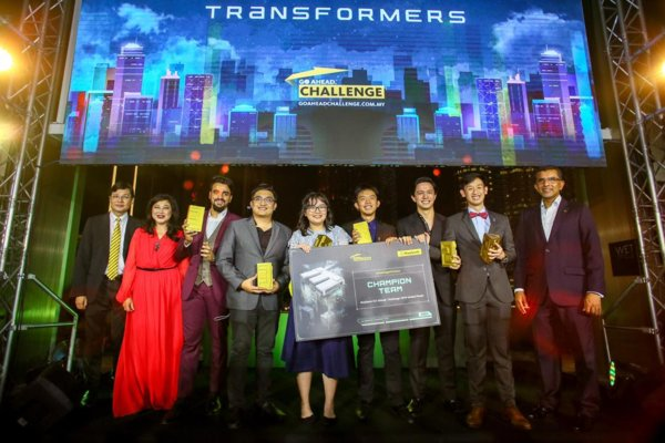 Sina Amini and 'Team Transformers' Announced as Top Winners of Maybank GO Ahead. Challenge (MGAC) 2019