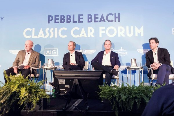 BYD hosted a panel on the future of urban transportation. From left to right: Thomas Stone, Wolfgang Egger, JF Finn III and Hernán Kraviez.