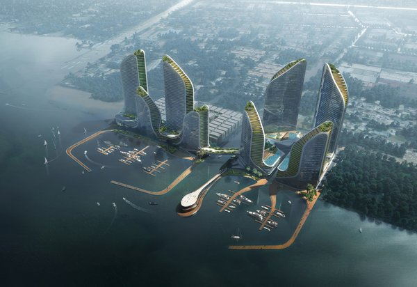Crown Group Plans Vertical Waterfront City for Jakarta