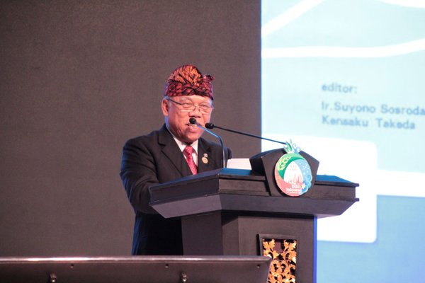 Indonesia's Minister of Public Works and Housing, Basuki Hadimuljono, delivered his speech at the 3rd World Irrigation Forum, Monday September 2 2019.