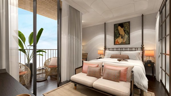Artist's Impression of Hotel Reve - the Indochine-inspired boutique hotel to be managed by Far East Hospitality under the Hotel Management Agreement with Five Elements Development in Vietnam