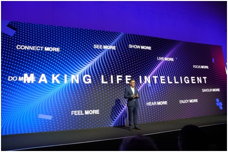 Kevin Wang, CEO of TCL Electronics, introduced new products
