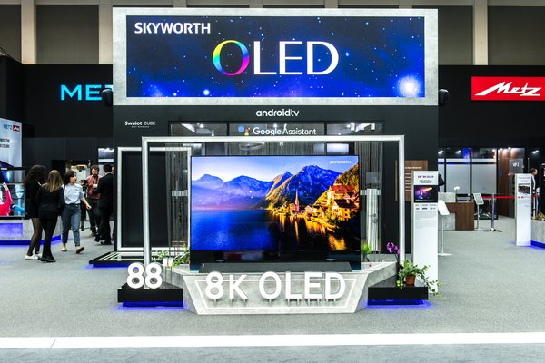 SKYWORTH showcases TV products