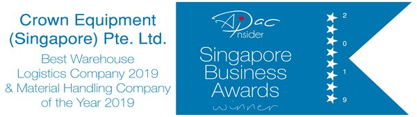 Crown Customer Service Excellence recognised with Best Material Handling Company Award in Singapore