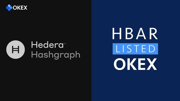 OKEx Will List HBAR – the Coin from Hedera Hashgraph, a New Generation of Distributed Ledger Technology