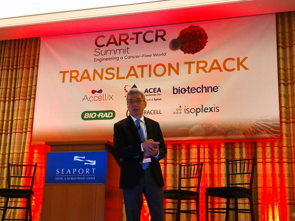 CEO Dr. William CAO gave speech of FasT CAR technology on the CAR-TCR Summit Boston.