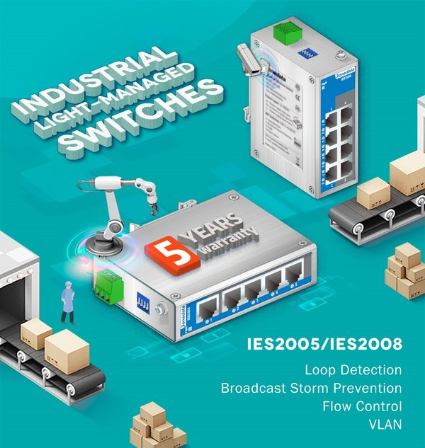 Industrial Light-Managed Switches - IES2005 and IES2008