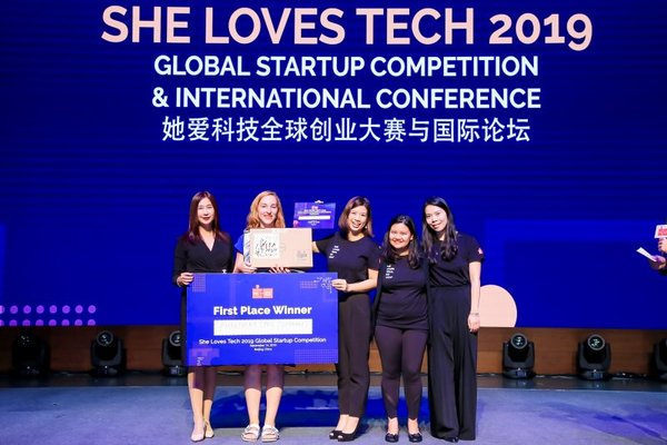 Global Winner Phantasma Labs with She Loves Tech Co-Founders