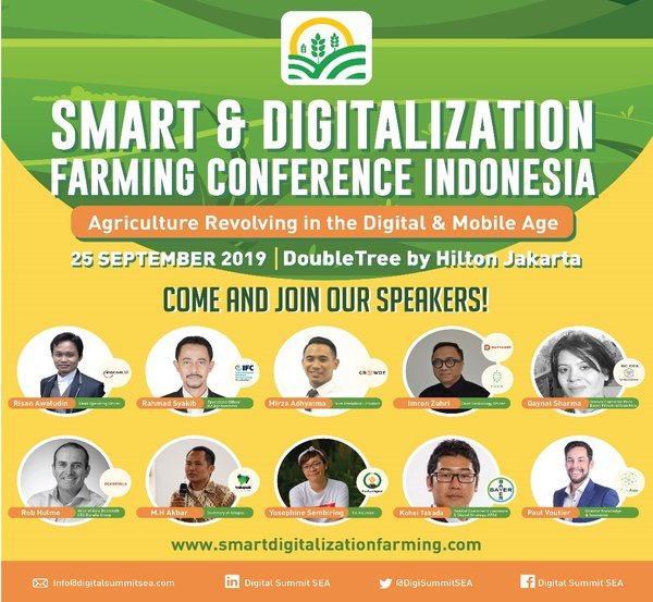 Smart & Digitalization Farming Conference Indonesia: Agriculture Revolving in the Digital & Mobile Age