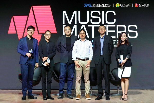 (From Left to Right) Dr. Simon Lui, Mr. Dennis Hau, Mr. Terry Zhao, Mr. Lei Zhang, Mr. Ray Zhuo and Ms. Kennex Tse decoded QQ Music and WeSing's IoT smart music ecosystem