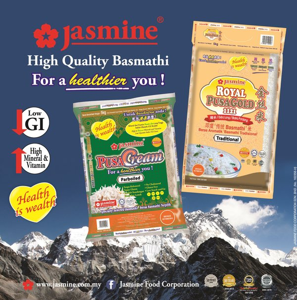 Jasmine's Specialty Basmathi Rice to Spotlight Malaysia's Latest Healthy Lifestyle