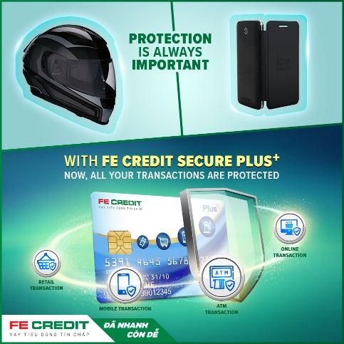 FE Credit Launches SECURE PLUS+, a fraud protection feature, specially designed for first time credit card users