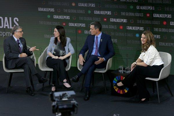 新西兰总理阿德恩和西班牙首相桑切斯出席2019年目标守卫者大会