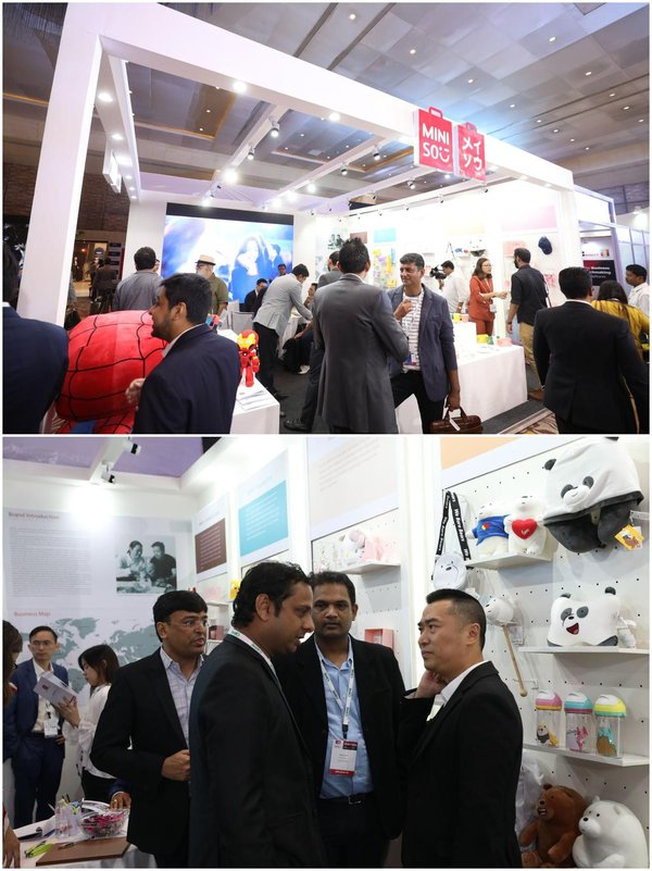 MINISO is popular at IRF, attracting many real estate developers, retailers and franchisees to consult and communicate.
