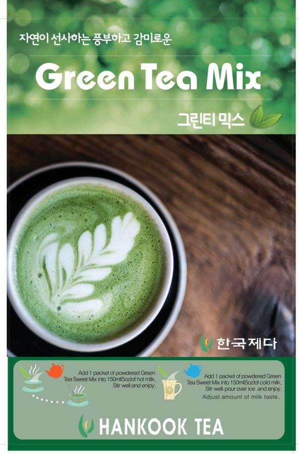 Hankook Tea Green Tea Mix packed with the flavor of natural, healthy green tea
