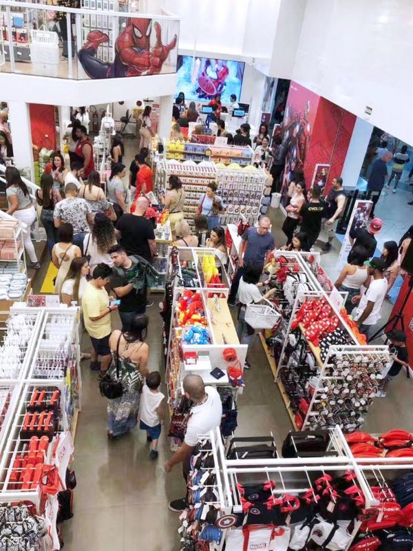Four MINISO x Marvel IP Stores Opened in Brazil on the Same Day