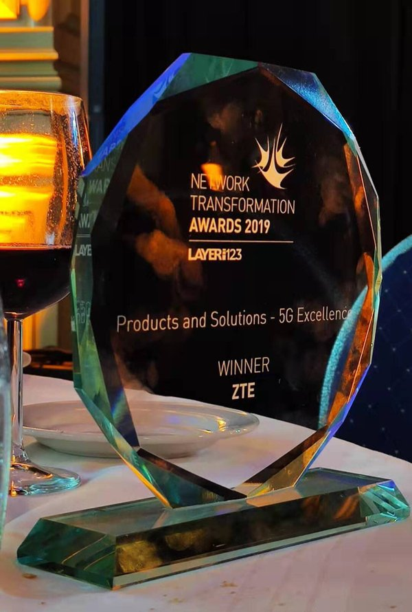 ZTE wins 5G Excellence Award at the SDN/NFV World Congress