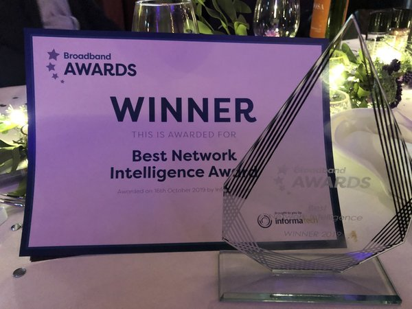 ZTE and China Unicom win Best Network Intelligence Award at Broadband Awards 2019