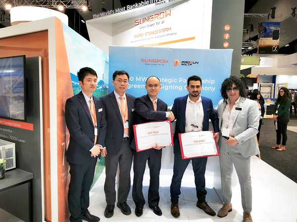 Sungrow Forged 100 MW Residential Distribution Agreement with Prosun Solar at All-Energy Australia 2019