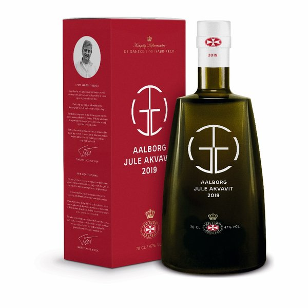 Chief designer Timothy Jacob Jensen appointed design icon of the Danish national classic; Aalborg Christmas Aquavit 2019