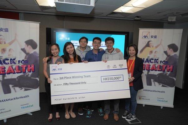 AXA Hong Kong and Macau hosts its first 'Hack for Health' challenge to explore innovations for health protection
