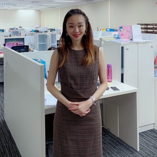 Dr. Vivien Chua, CTO of Shenton Brokers, in her office.