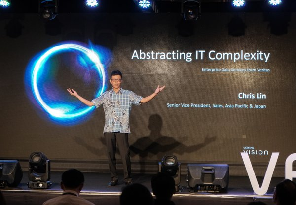 'Abstracting IT Complexity' keynote: Chris Lin, senior vice president of sales, Asia Pacific and Japan region, Veritas