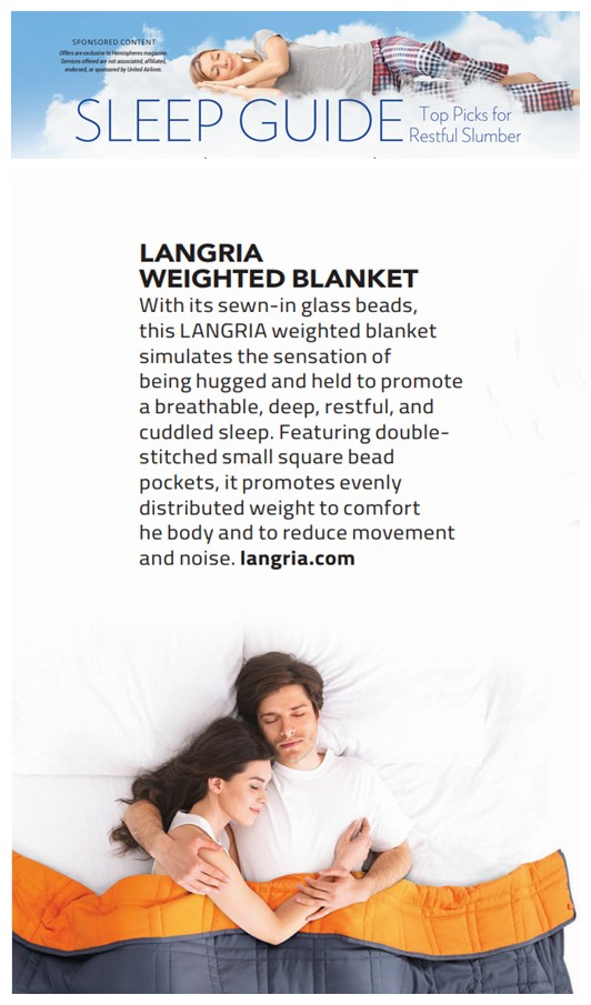 LANGRIA: Leading Home Furnishing Brand Featured in SLEEP GUIDE of United Airlines