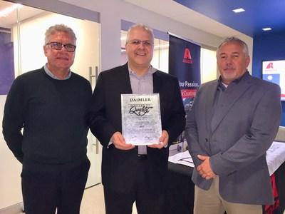 艾仕得荣获戴姆勒卡车公司2018年供应商质量大师奖