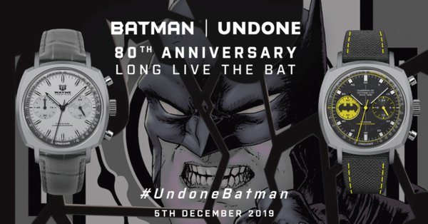UNDONE x Batman 80th Anniversary Collection: LONG LIVE THE BAT