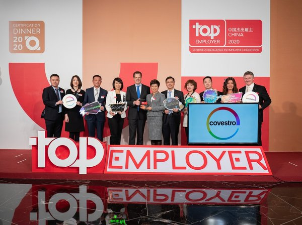 Covestro China named a Country Certified Top Employer for the second consecutive year