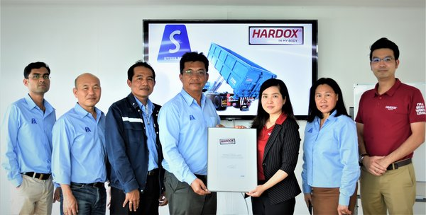 First Thai Truck Manufacturer Steelmer Qualifies for SSAB's Hardox(R) In My Body Program