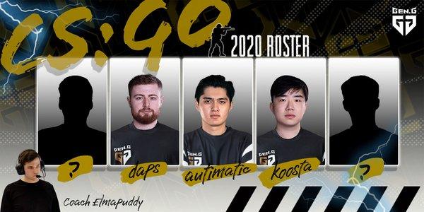 全球性电子竞技俱乐部Gen.G进军CS:GO,签下autimatic等三位选手