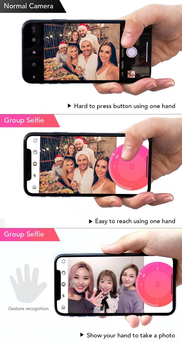 Group Selfie offers users a more convenient experience