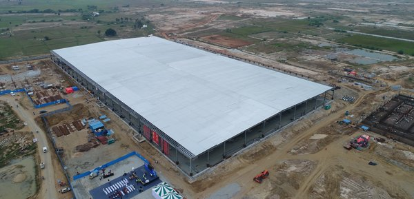 The aerial image of TCL CSOT's module project in India