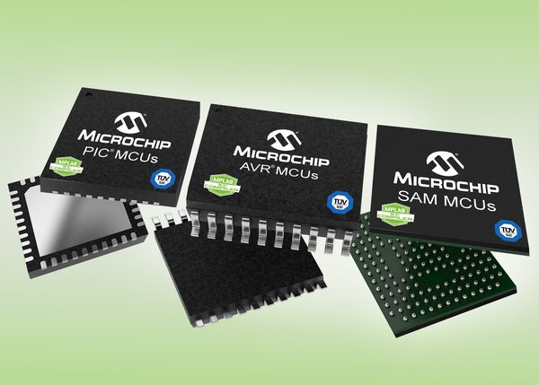 Microchip MPLAB XC functional compilers certified by TUV SUD