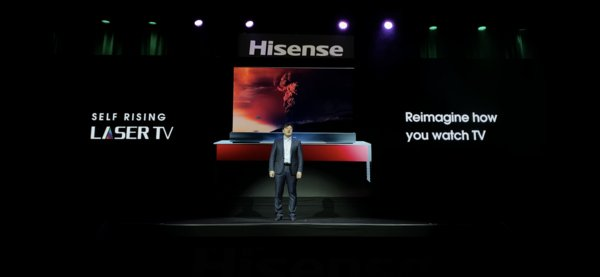 Hisense Released Self-Rising Laser TV at CES 2020