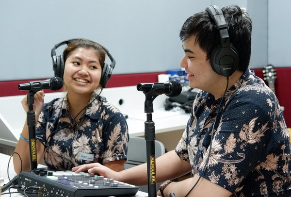 The ACG Radio Station allows students to learn and explore professional broadcast practices.