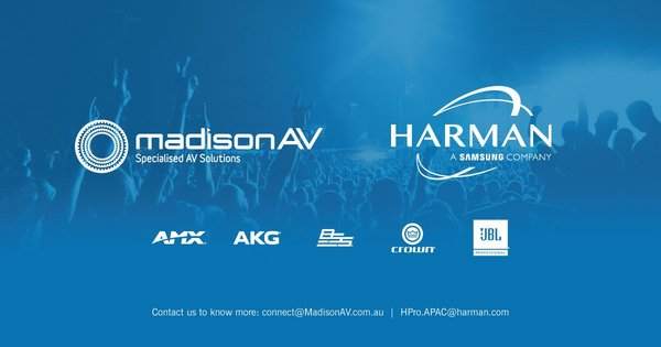 HARMAN Professional Solutions Appoints MadisonAV as Authorized Distributor for AMX and Install Audio Solutions in Australia